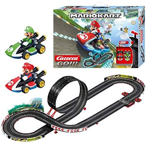 Carrera 20062491 GO!!! Nintendo Mario Kart 8 Rennstrecken-Set | 4,9m elektrische Carrerabahn mit Mario & Luigi Spielzeugautos | mit 2 Handreglern & Streckenteilen | Spielzeug für Kinder ab 6 Jahren