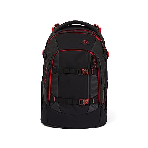 satch pack Schulrucksack - ergonomisch, 30 Liter, Organisationstalent - Fire Phantom - Black, einheitsgröße