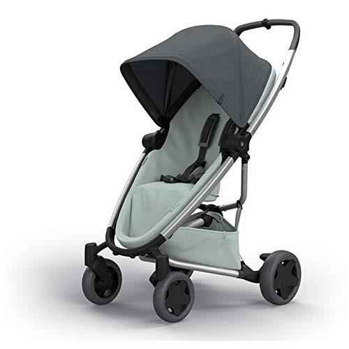 Quinny Zapp Flex Plus Buggy, Stylischer Kinderwagen mit Viel Komfort und Flexibilität, Leicht und Extrem Kompakt Zusammenfaltbar, Nutzbar ab der Geburt (z.B. mit Lux Babywanne), Graphite on Grey