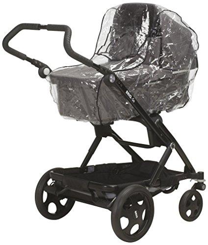 Playshoes Universal Regenverdeck für Kinderwagen, Regenhaube mit Klettverschluss und Gummizug, transparent, one size
