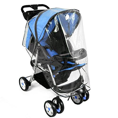 Mture Kinderwagen Regenschutz, Universal Regenschutz Gute Luftzirkulation, Schadstofffrei, hochklappbar für einfachen Ein- und Ausstieg passend für jeden Kinderwagen (Modell-1)